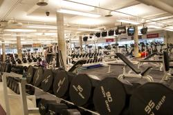 Weights in the Fitness Centre.