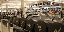 Weights at the fitness centre.