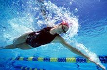 Femme qui nage