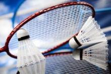Badminton Racquet and Shuttlecock.