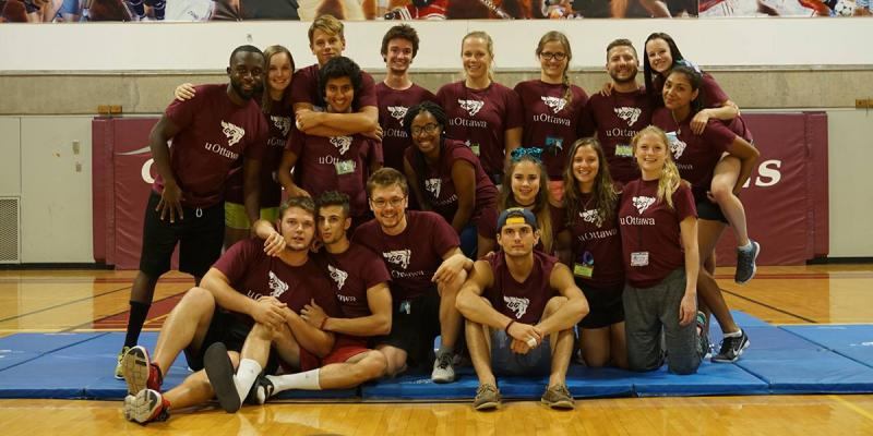 Group of camp counselors.