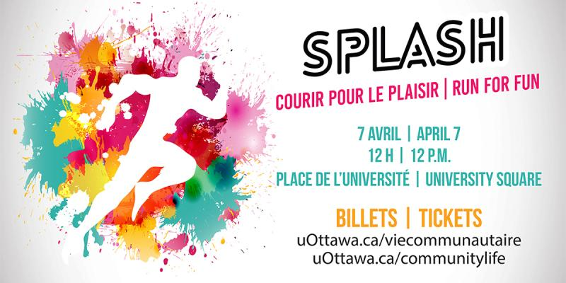 Splash Run Logo and Information.